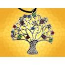 Pendentif Celte Arbre de Vie Bijou Celtique et Brillants Multicolores Collier Femme