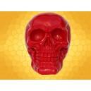 Crâne Rouge Brillant Squelette Humain Décoration Gothique