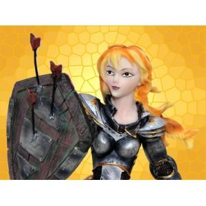 Figurine Moyen Age Statuette Guerrière Médiévale Sexy Heroic Fantasy