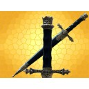 Dague Royale Médiévale Mini épée Roi du Moyen Age avec Fourreau