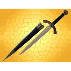 Dague Lion Médiévale Mini épée du Moyen Age Félin avec Fourreau
