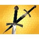 Dague Gemme Rouge Médiévale Mini épée du Moyen Age avec Fourreau