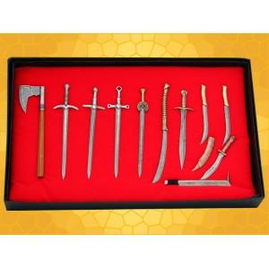 Armes Seigneur des Anneaux Bilbo le Hobbit Lot 12 Mini épées dagues hache