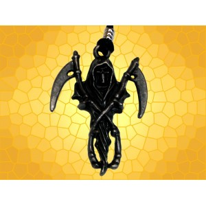Pendentif Faucheuse Spectre Squelette avec Faux Sons Of Anarchy Bijou Biker
