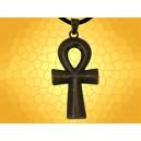 Gros Pendentif Égyptien Croix Ankh Couleur Bronze Clé de Vie Bijou Collier Égypte