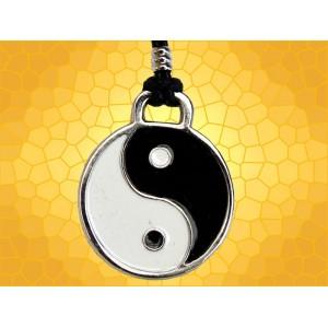 Pendentif Symbolique Yin Yang Dualité Harmonie Philosophie Chinoise