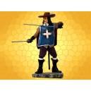 Figurine Mousquetaire Français Statuette Renaissance Soldat du Roy Mousquetaires