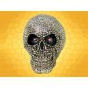 Crâne Lumineux Chromé Squelette Gardien des Bijoux