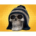 Crâne Bonnet Blanc et Noir Squelette Humain Décoration Gothique