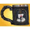 Mug Templier Chope Médiévale Verre Décoration Moyen Age