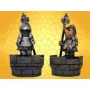 Boite Figurine Soldat Médiéval Humoristique avec Lance
