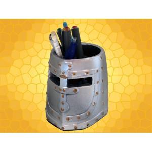 Pot à Crayons Heaume Range Stylos Casque Chevalier du Moyen Age