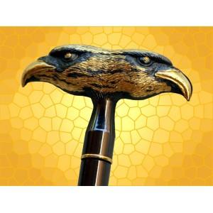 Canne Épée 2 Rapaces SteamPunk Cannes de Marche Fantasy Oiseaux de Proie