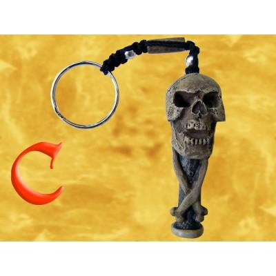 Porte Clés Pendentif Squelette Crâne Totem Porte-Clef Gothique Pirate