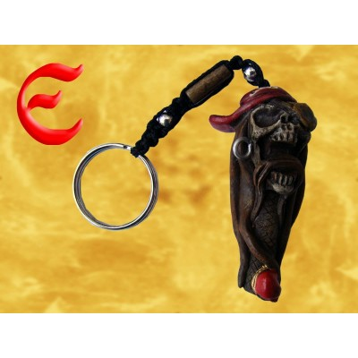 Porte Clés Pendentif Squelette Pirate avec Bandana Porte-Clef Gothique