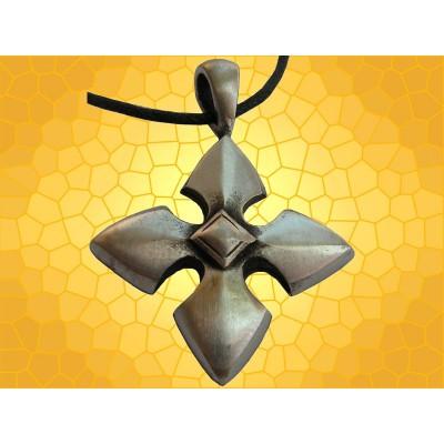 Pendentif Croix Bijou Médiéval Croix à Quatre Pointes de Flèches Moyen Age