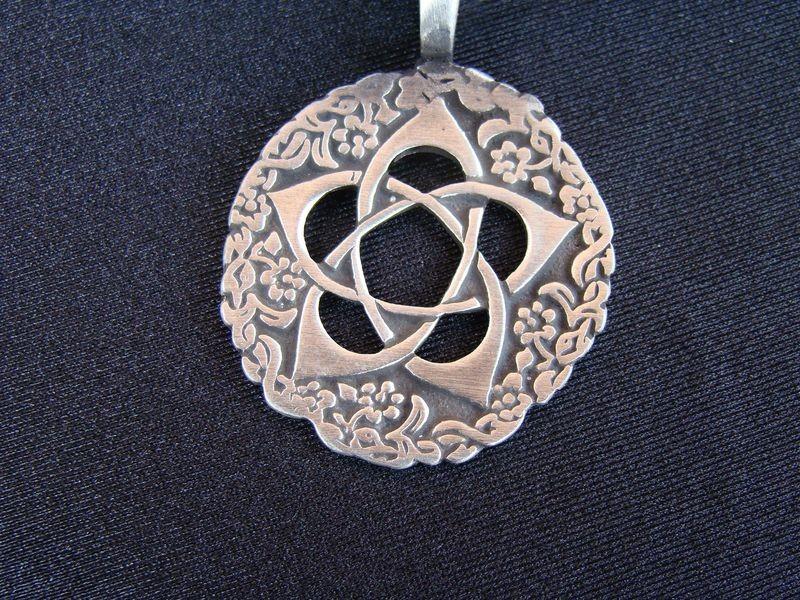 Pendentif Symbolique Fleur de Lotus Bijou Symbole Exotique - Anticae
