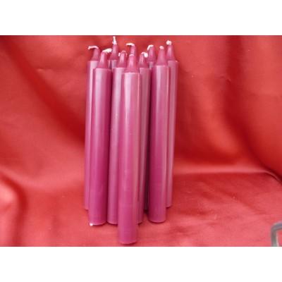 5 Bougies Parfumées Couleur Fuchsia Figue Cassis Bougie Senteur Apaisante