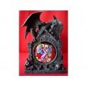 Statuette Dragon Portique Vitrail Gothique Fantasy Vitrage Coloré