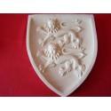 Blason Normandie Lions Plaque Murale Blasons Moyen Age Historiques