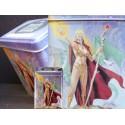 Boite pour Cartes Deck Box Magicienne et Dragon Boites de Rangement Carte de Jeu