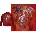 Sweat Shirt Dark Chemical Wedding Alchemy Gothic Rouge Mariage du Dragon et de l'Ange
