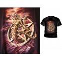 T Shirt  Curse Of Ishtar Alchemy Gothic Pentagramme et Créature Fantasy Malédiction