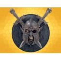 Support Dagues Barbare Crâne et épées avec 2 Armes en Acier