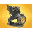 Horloge Figurine Dragon en Étain Montre Gothique Fantasy Dragons