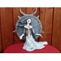 Figurine La Toile de SERAPHIA Alchemy Gothic Statuette Gothique Femme et Toiles d'Araignée