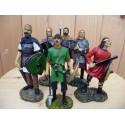 Lot Six Figurines Barbares Antiques Mini Statuettes Guerriers Antiquité