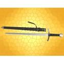 Épée de TEMPLIER avec Fourreau Cuir Réplique Épées templières