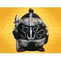 Booble Head Figurine Lancier Chevalier Marrant en Armure Statuette Médiévale Lance