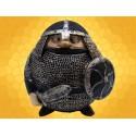 Booble Head Figurine Chevalier Marrant en Armure Bouclier Rond et Épée