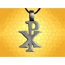 Pendentif Symbolique Chrétien CHRISME Monogramme du Christ Bijou Symbolique