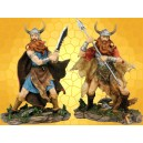 Lot 2 Vikings Figurines Guerriers Barbares Statuettes Antiques Combattants du Nord
