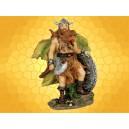 Figurine Guerrier Viking Guerrier Nordique Barbare Hache et Bouclier