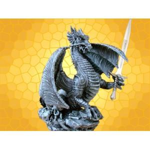 Ouvre Lettres Figurine Dragon et Épée Runique Coupe Papier Gothique Dragons