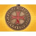Porte Clés Croix Templiere Sigillum Militum Xristi Bronze Porte-Clef