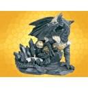 Bougeoirs Dragons Fantasy Bougeoir Dragon Guerrier en Armure Gothique