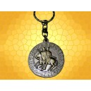 Porte Clés Croix Sceau Templier Chevaliers et Citation Bronze Porte-Clef Médiéval