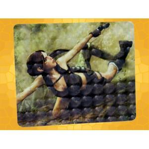 Tapis de Souris Tomb Raider Lara Croft en Action avec Pistolet