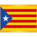 Drapeau Catalan Indépendantiste 150 x 90 cm Sang et Or Ètoile Blanche