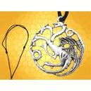Collier 3 Dragons Symbole Targaryen Game Of Thrones Daenerys Westeros