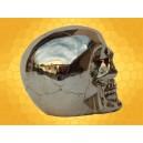 Crâne Doré Brillant Squelette Humain Décoration Gothique