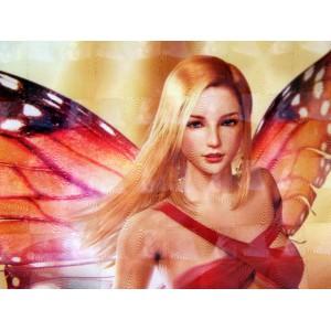 Tapis de Souris Rouge Fantasy Jolie Jeune Fée Blonde