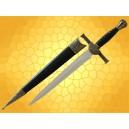 Dague Mac LEOD Médiévale Mini épée du Moyen Age Duncan Mc Leod avec Fourreau