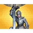 Lampe Médiévale Chevalier Décoration Moyen Age Guerrier Agenouillé en Armure