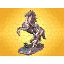 Figurine Statuette Cheval de Marly et Palefrenier