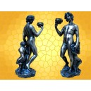 Figurine Statuette Antique représentant BACCHUS et un petit FAUNE